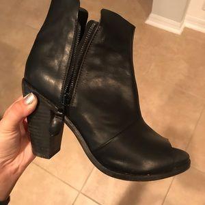 Rag & Bone Black Leather Booties